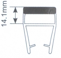 Молдинг для душевых кабин Н008В-8мм 180 гр. L=2.2м