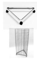 Основание 3х сеток эконом-панелей треугольное