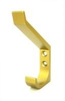 Крючок двойной A095-71 золото матовое