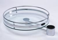 РТJ 016-25  Корзина круглая на трубу со стеклянным дном   (d=364*100)