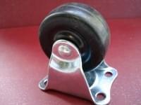 Колесо D=50 прямое резиновое  чёрное гп 25 кг