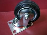 Колесо  D=75 поворотное черное резиновое гп 55 кг