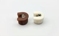 Стяжка эксцентриковая в пластиковом корпусеv4016A коричневая