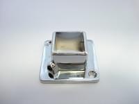 Трубодержатель торцевой на трубу 20*20 металл хром