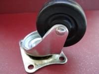 Колесо  D=50 поворотное резиновое  чёрное гп 25 кг