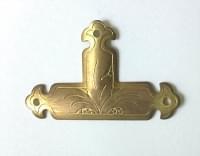декор Т - образный 48*30 желтый