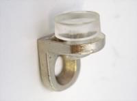 Полкодержатель для стекла  уголокпод шуруп с резинкой  металл Cr