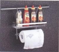 СWJ 202 L Полка 1 ярус с держателем для бумажного полотенца (350*150*350)