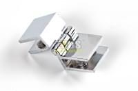 Навес для стекла 5-8мм хром 90гр V-151