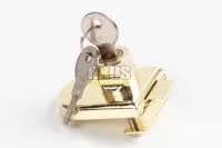 Замок для  стекла модель №408 (накладной для распашной стеклянной двери) золото