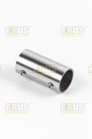Соединение D=25 L60мм 2-х труб прямое внешнее нержавеющая сталь